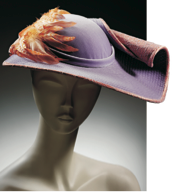 Stephen Jones, hat with rolled brim, 1982.Photo: Richard Davis/ VandA Images