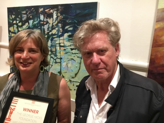 Erica Wagner and artist Godwin Bradbeer
